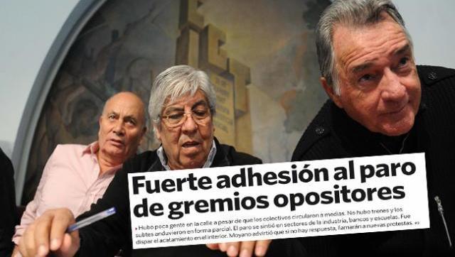 Clarín salió a bancar el paro de sus figuras opositoras