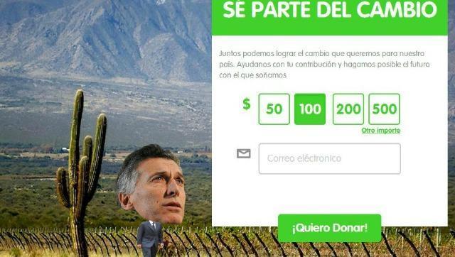 Macri manda mails pidiendo que le donen plata para su campaña