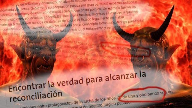El diario La Nación, obsesionado con la teoría de los dos demonios