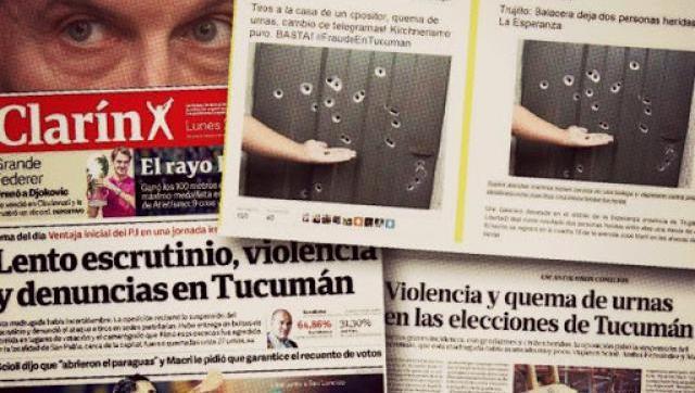 El PRO quemó urnas en Tucumán y denuncian fraude