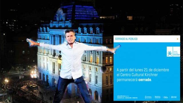 Sin explicaciones: el macrismo cerró el Centro Cultural Kirchner