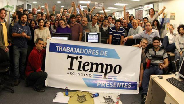 Vaciamiento y deuda de salarios sufren los trabajadores de Tiempo Argentino