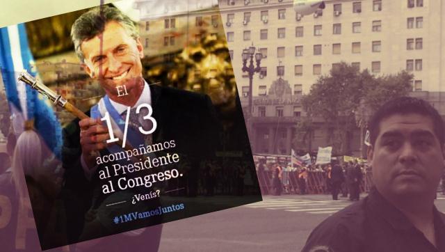 Casi vacía: magra convocatoria del macrismo a la Plaza de los dos Congresos