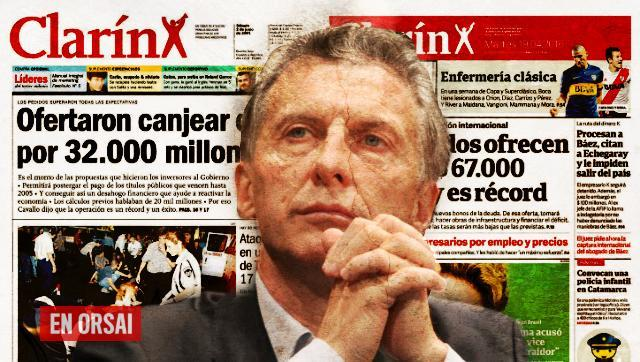 No teman: como en 2001, Clarín celebra la oferta récord para el endeudamiento