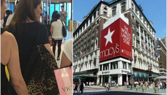 Vidal y familia de compras por las principales tiendas de New York
