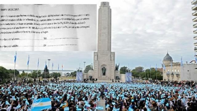 Rosario: Acto en el monumento a la bandera cercado por temor presidencial