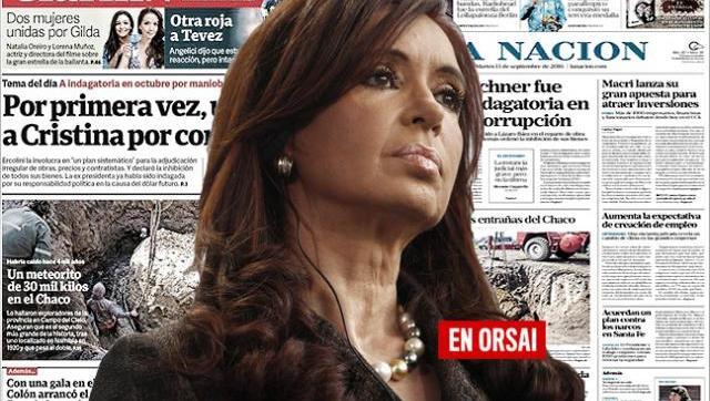 Si tenías dudas sobre la                persecución a CFK, mirá la tapa de Clarín y La Nación
