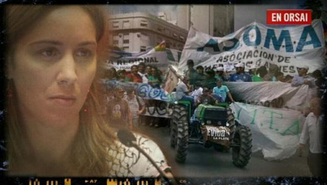 Tractorazo: productores frutihortícolas marchan por reclamo a Vidal