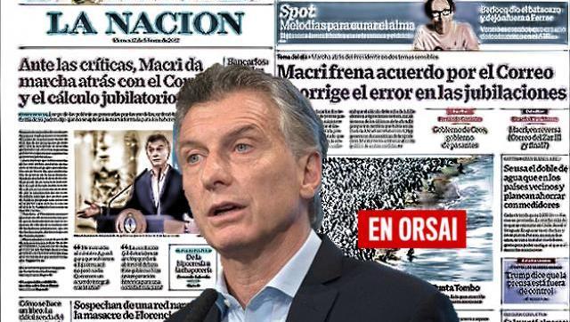 Las insólitas portadas de los medios oficialistas ante otro retroceso del macrismo