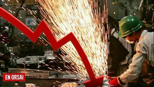 La producción industrial cayó un 9% durante febrero
