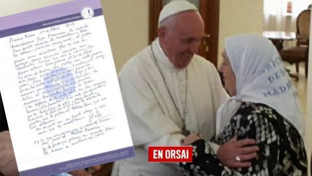 El Papa le escribió una carta a Hebe: le ratificó