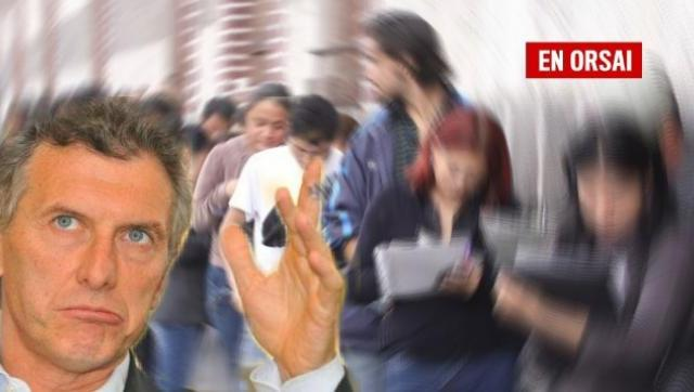 Datos oficiales: cada día 3.200 familias se quedan sin trabajo en la Argentina de Macri