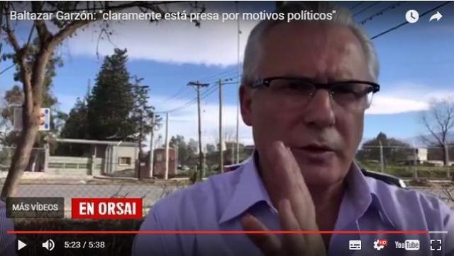 """Baltazar Garzón: Milagro Sala """"claramente está presa por motivos políticos"""""""