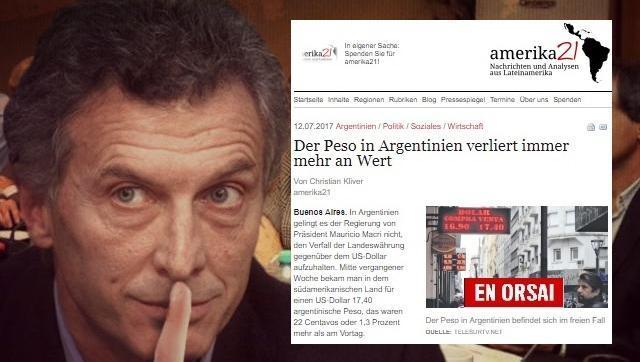 """Diario Alemán destrozo al """"gobierno neoliberal de Macri"""""""