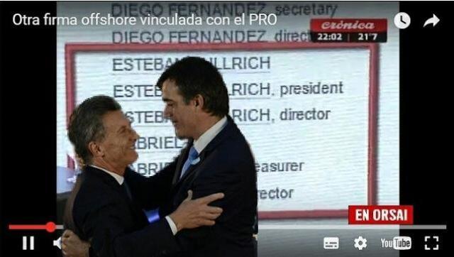 Revelan otra firma offshore vinculada con el PRO