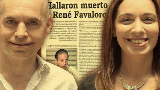 María Eugenia Vidal, Larreta y el oprobioso suicidio del Dr. Favaloro