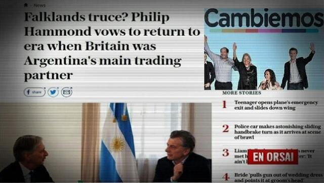Diario inglaterra: Macri abandonó el reclamo por soberanía