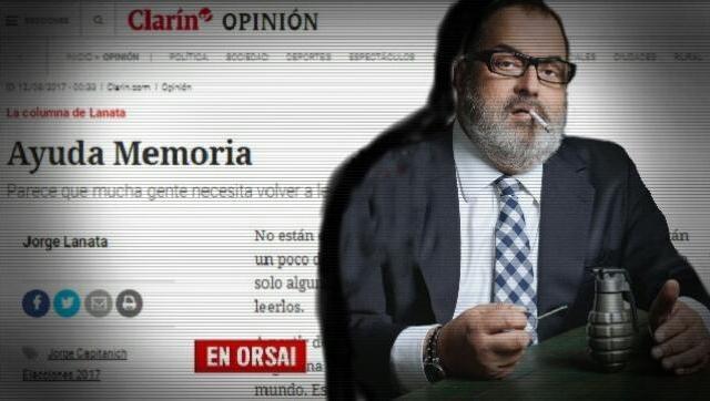 En veda electoral el ultramacrista Lanata repasa una lista de supuesta corrupción K