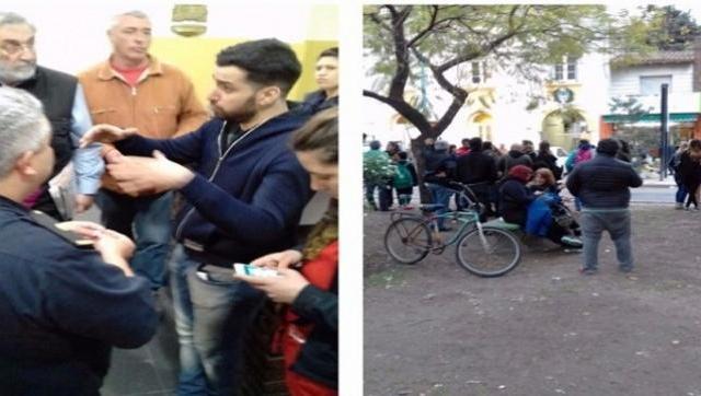 La policía entró a una escuela y quiso detener a un docente por hablar de Santiago Maldonado