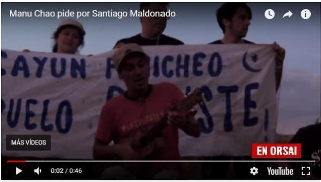 Manu Chao cantó con los mapuches y pidió por Santiago Maldonado
