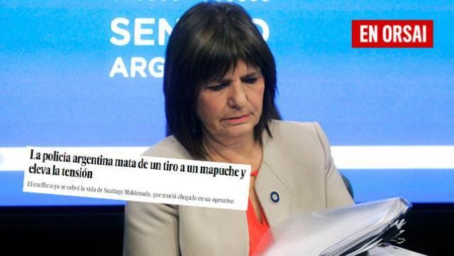 """Para El País """"la policía argentina mata de un tiro a un mapuche"""""""