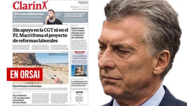 Clarín sale a justificar el freno a la flexibilización laboral de Macri