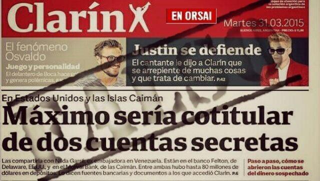 Desmienten otra opereta de Clarín: La cuenta de Máximo y Garré que nunca existió