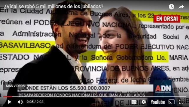 La contundente denuncia contra Vidal por desviar 5 mil millones de pesos que eran de los jubilados