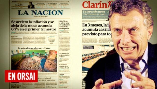 Hasta los diarios oficialistas hablan de la incontrolable inflación del macrismo