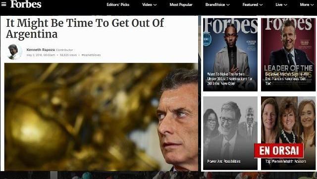 Revista Forbes a inversores del mundo: