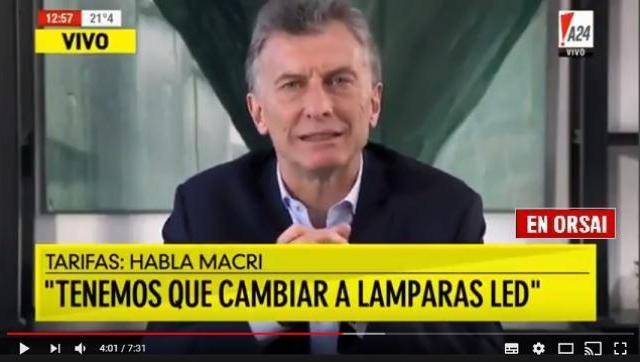 Macri y Peña son los importadores de las lamparas LED que te piden que compres