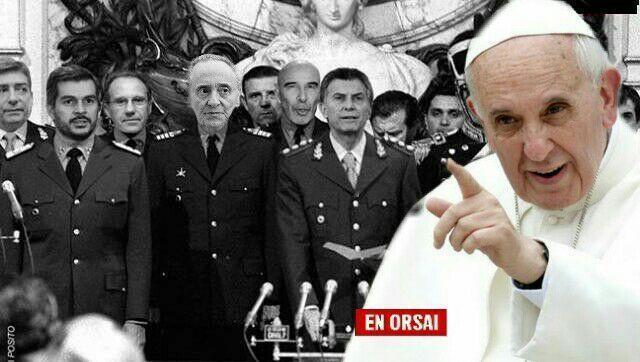 """El Papa duro contra Macri y Magnetto por desconocer la Ley de Medios """"así empiezan las dictaduras"""""""