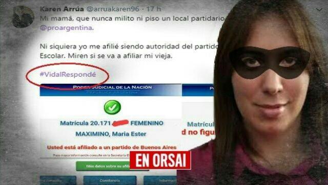 Lavado: afiliación trucha a la madre de ex presidenta de la Juventud del PRO