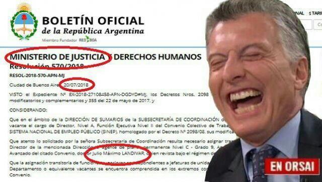 Mas allá de decretos que lo prohíban, nombran Director al hermanastro de Macri