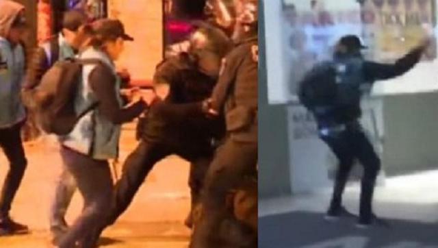 Servicios: una policía que reprimió en la Plaza también atacó el teatro ND