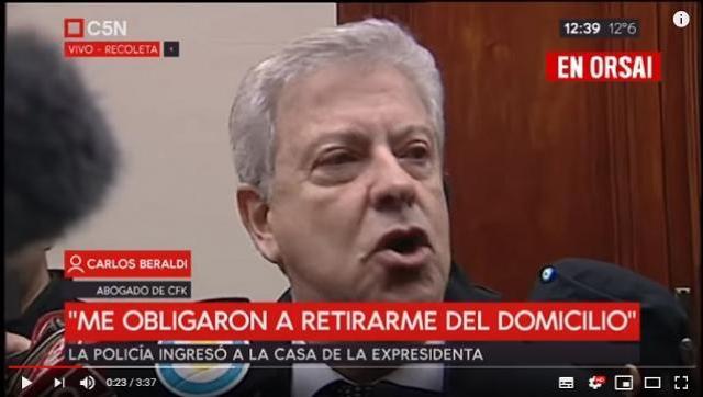 Carlos Beraldi denunció a Bonadío por abuso de autoridad