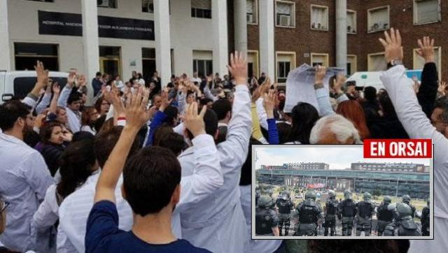 Militarizan al Hospital Posadas y despiden a 80 médicos, denuncian amenazas