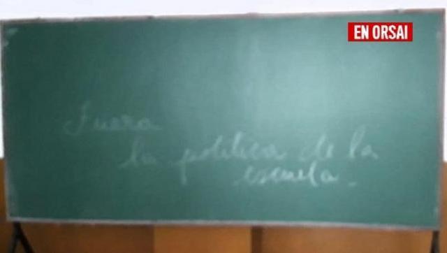 Aparecieron amenazas en un colegio de la Ciudad: