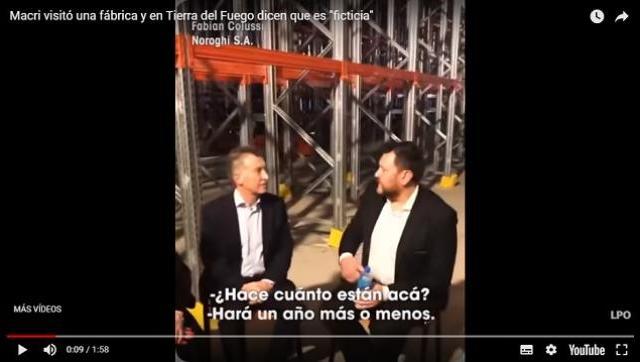 Todo circo: denuncian que Macri visitó una fábrica que