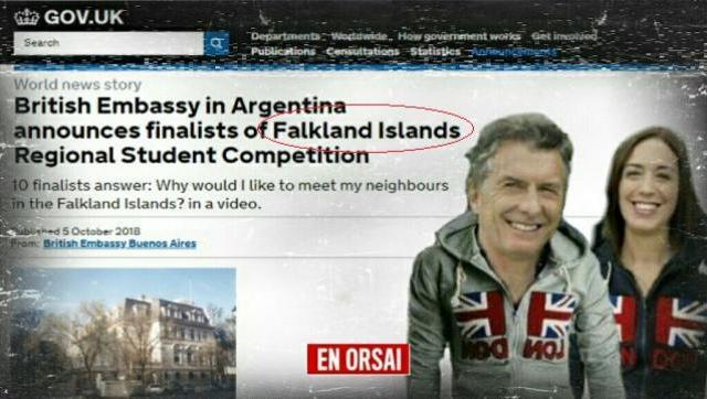 Nueva provocación de la embajada británica en Argentina: organiza un