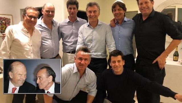 El presidente Macri con periodistas y dueños de medios.