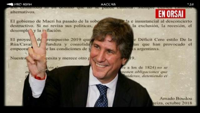 """Los escritos de Boudou sobre el presupuesto 2019 y el """"doble engaño"""""""