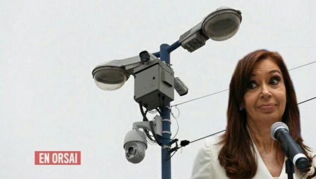 Intentaron colocar 3 cámaras y un domo en la esquina de la casa de Cristina