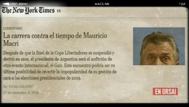 The New York Times: la nota más dura contra el gobierno de Macri