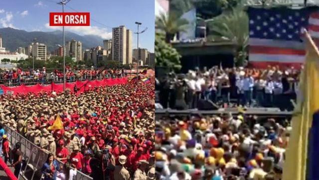 Un país partido y la bandera de Estados Unidos como nuevo ícono del anti-chavismo