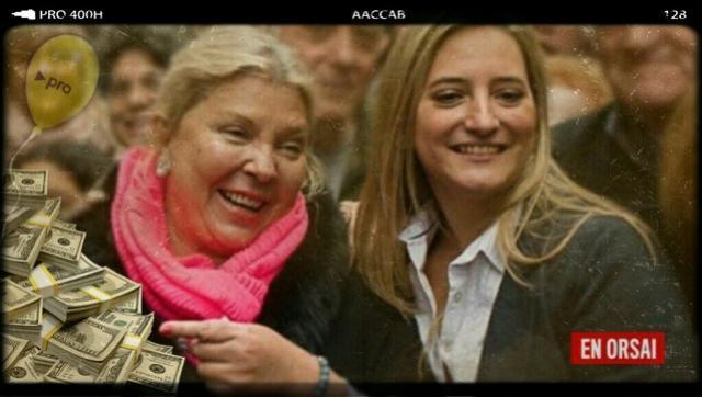 Elisa Carrió y la diputada santafesina por Cambiemos, Lucía Lehmanmn.
