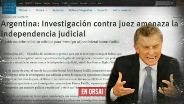 El mundo habla sobre Macri y la persecución a Ramos Padilla: