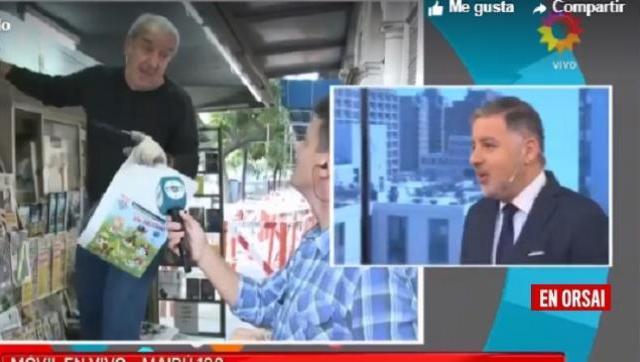 Habló el canillita que criticó a Macri y a Magnetto en la pantalla de canal 13: