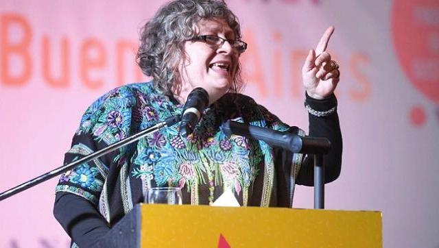 Rita Segato, antropóloga feminista y argentina, fue ovacionada en la Feria Internacional del Libro 2019. - Foto: Télam.