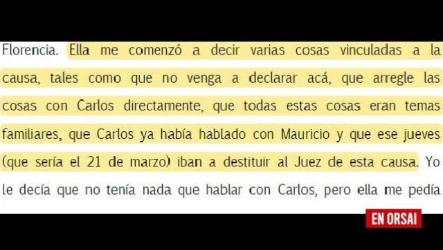Graciana Peñafort: Tremenda declaración del ex esposo de la actual pareja del fiscal Carlos Stornelli
